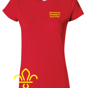 11th Nuneaton Scout Uniform Ladies Fit T-Shirt