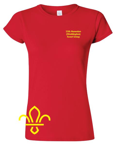 11th Nuneaton Scout Uniform Ladies Fit T-Shirt