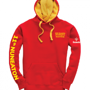 11th Nuneaton Scout Uniform Contrast Hoody