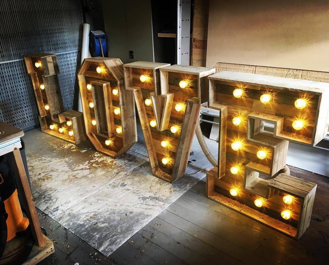 Bespoke Letters With Lights