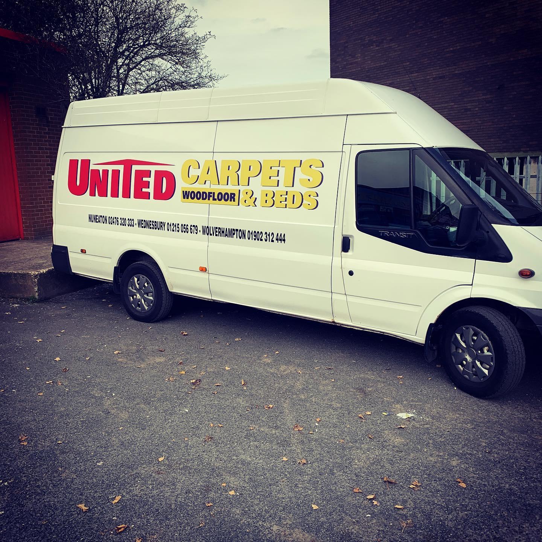 United Carpets Van Signs