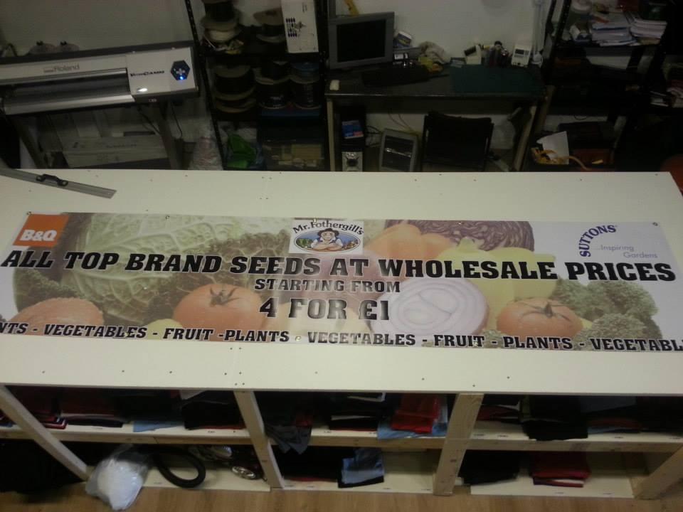 B&Q Printed Banner