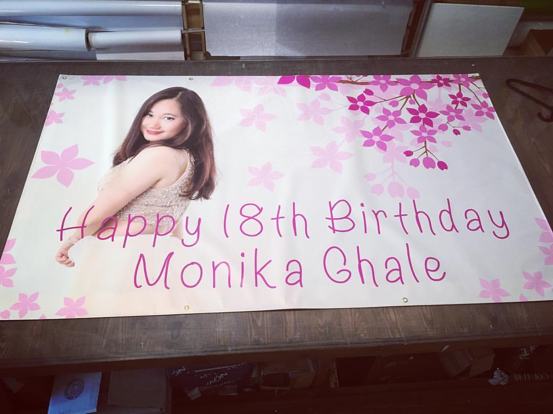 Birthday printed banner