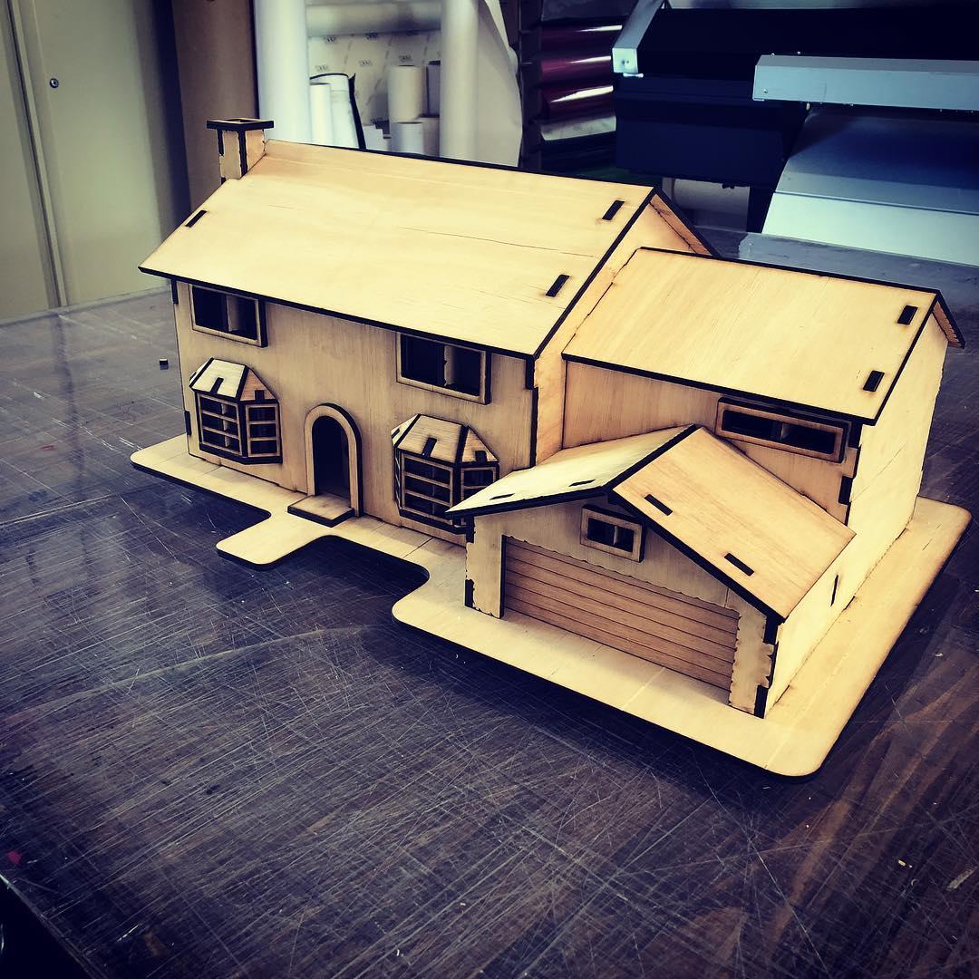 Laser Cut House