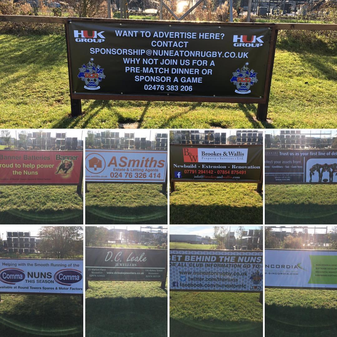 Sponsor printed banners