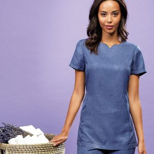 Viola 'linen look' cut neck beauty tunic