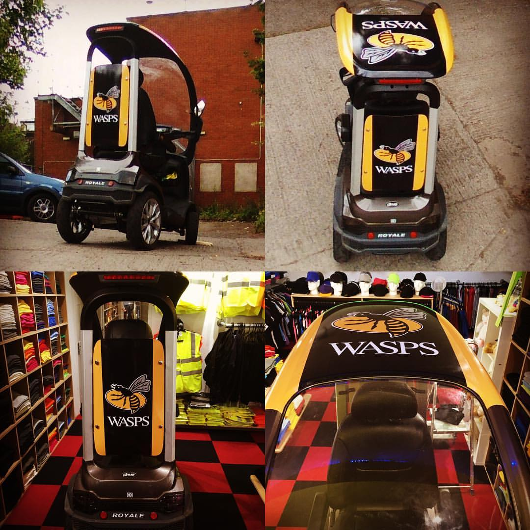mobility scooter wrap wasps RFC