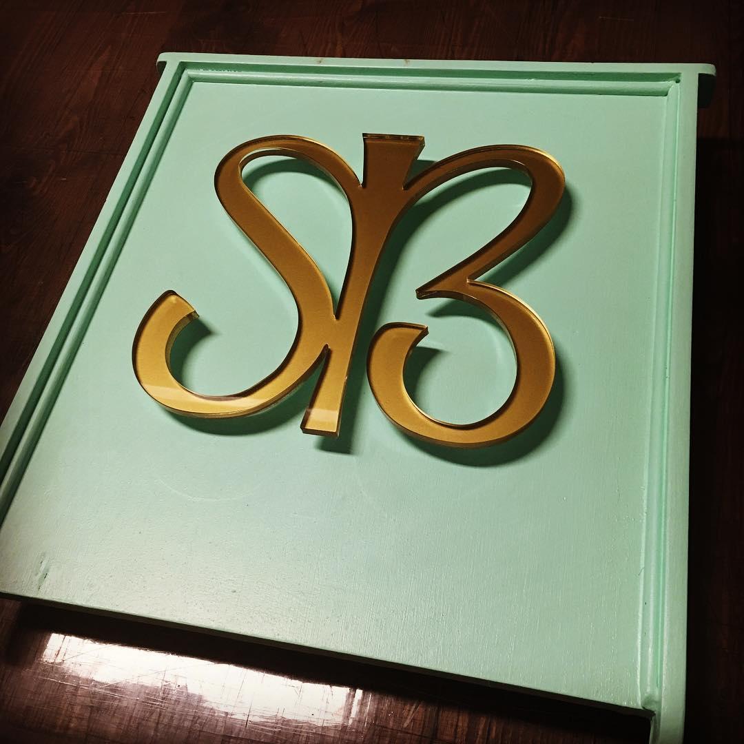 SB Laser cut Sign