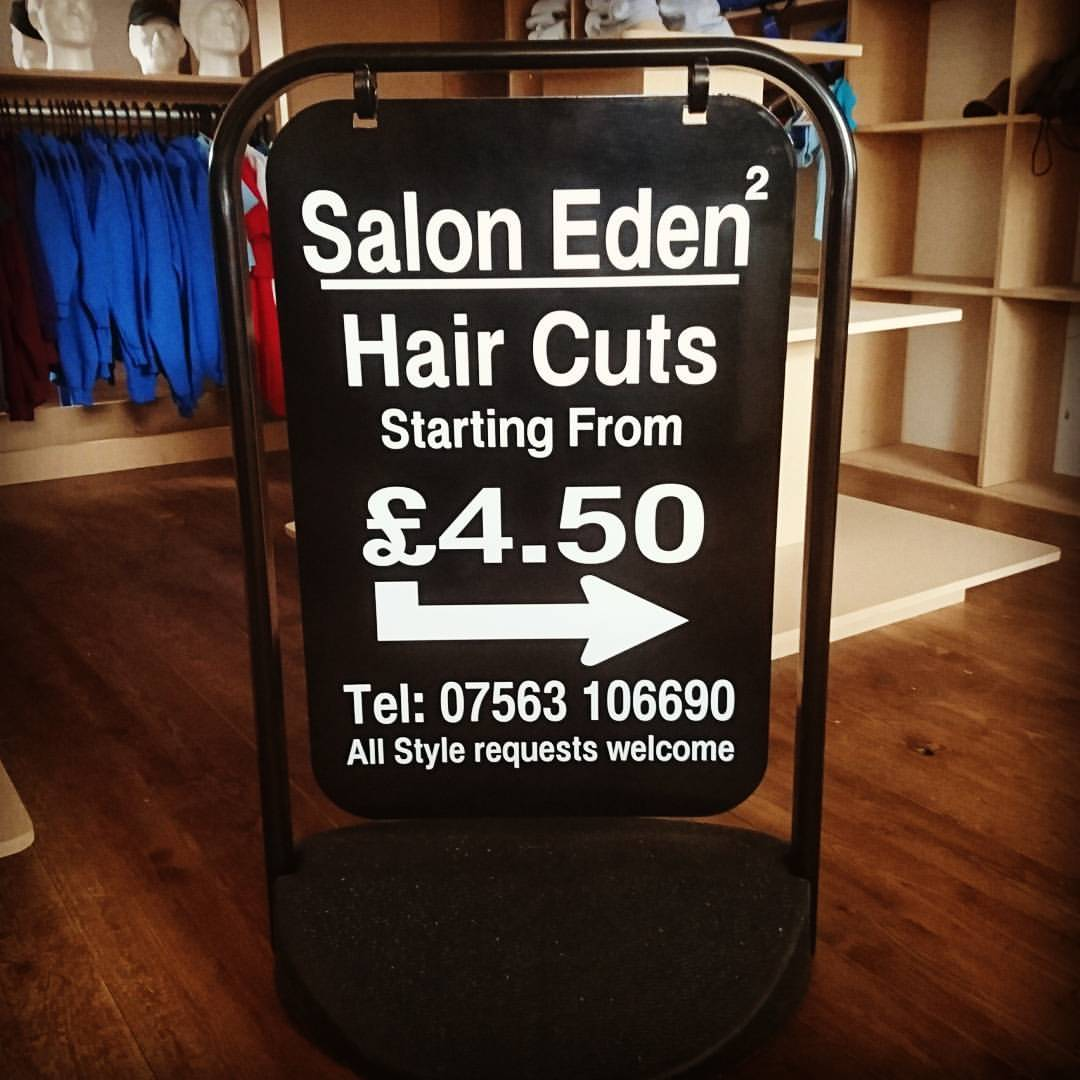 Salon Swing Sign