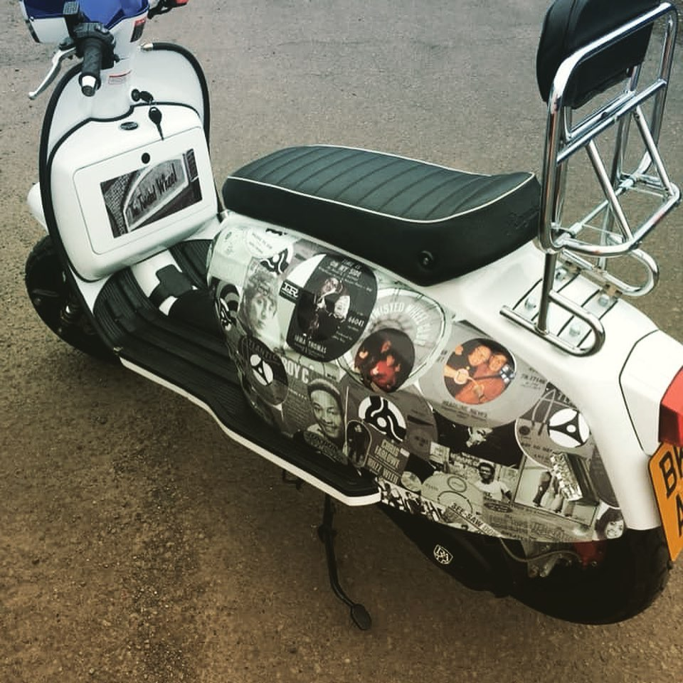 Scooter panel wrap complete