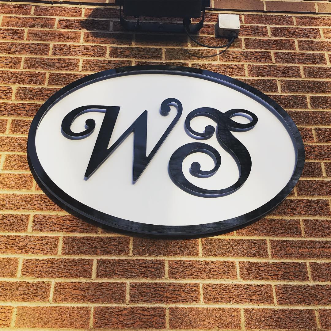WS Raised Lettering