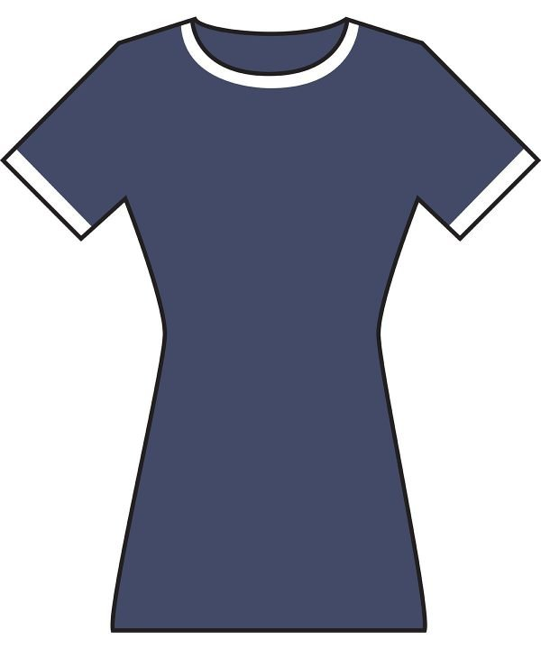 Women's polycotton ringer t-shirt dress