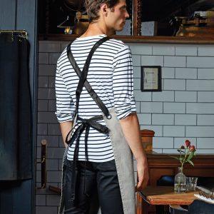 Cross back interchangeable apron straps