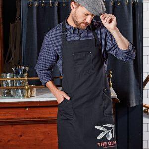 Chino cotton bib apron
