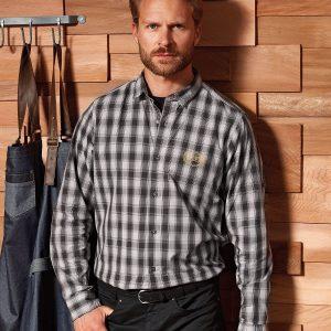 Mulligan check cotton long sleeve shirt