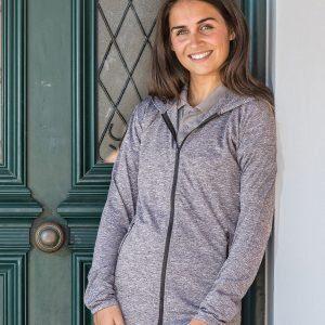 Women's hooded tee jacket